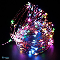 TREE LAMPS, MICRO WIRE 100LED, MULTI BATTERY