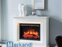 Electric fireplace oven