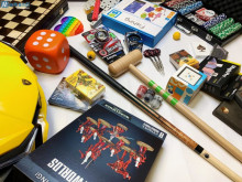 Clearance of new toys, playing cards, magic tricks, brain teasers, etc