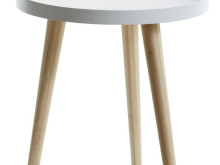 Natural white side tables or side tables - Diameter 40 cm and Height 43