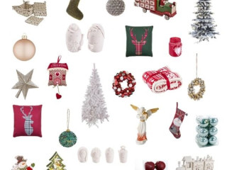 Stock of decorations, Christmas trees and Christmas textiles !!! NEW O