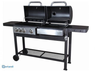 Dual fuel Arpe outdoor barbeques - gas and coal