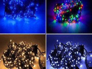 STRONG CHRISTMAS TREE LAMPS 100 LED MULTIPLE COLORS 8m.