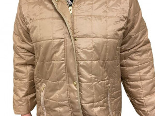 Quilted jackets in beige