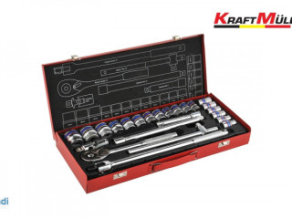Set of 25 KRAFTMULLER ratchet wrenches 1/2