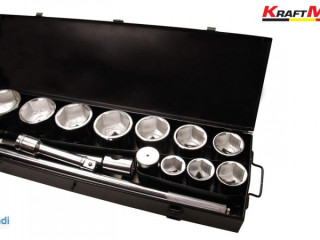 Box of 21 Wrenches / Sockets - 3/4 Inches - Metric KRAFTMULLER