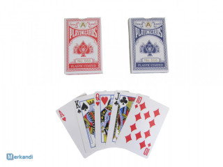 GAME CARDS TWO DECKS 54 PIECES TRADITIONAL POKER SET