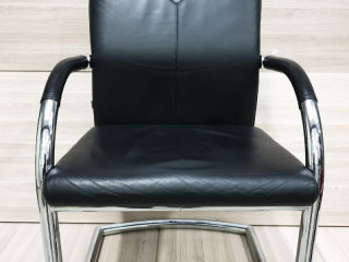 LOT OF VISITOR OFFICE CHAIR IN REAL LEATHER